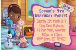 Personalised Doc McStuffins Invitations
